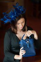 Clutch Damen Tasche Abendtasche Umhängetasche Handtasche klein blau bag сумка