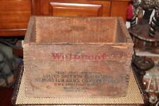 Antique Remington Arms Co. Wood Box Crate-12 Gauge Shotgun-#1-Empty-Bridgepo rt