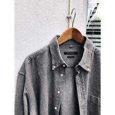 VTG grey Oxford flannel shirt XL french workwear chore 1990s skate oi polloi