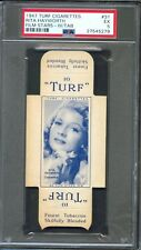1947 TURF Cigarettes Card w/ Tab #31 RITA HAYWORTH Gilda COVER GIRL PSA 5 Rare!!