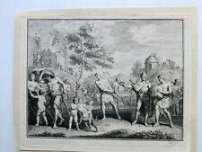Holland Niederlande Geschichte Ankunft der Batavier Kupferstich 1749