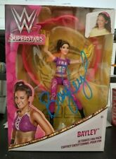 BAYLEY WWE DIVA SIGNED AUTOGRAPH MATTEL SUPERSTARS FAN PACK FIGURE W/ PROOF