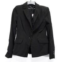 New White House Black Market Womens Black All-Season Suiting Jacket Blazer 2
