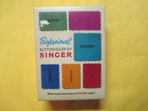 VINTAGE 1970'S SINGER PROFESSIONAL BUTTONHOLER NM IN BOX FOR VERTICAL ZIG-ZAG