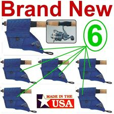 6 NEW ALLEN BLUE NEOPRENE SPINNING REEL COVERS,FITS SMALL/MEDIUM SPINCAST REELS