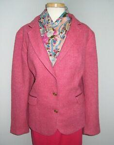 TALBOT'S Rose Pink Herringbone Blazer Jacket - 20W - NWOT - Gorgeous Color
