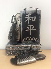 Heart Of Darkness By CRI DE COEUR Gunmetal Metallic/Black Sandals Size 7.5M NEW!