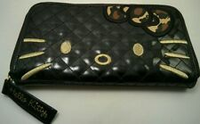 Hello Kitty Zip-Around Wallet Black & Gold
