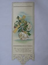Very Sweet Victorian New Year Day Greeting Card single leaf. Psalm 61.3.