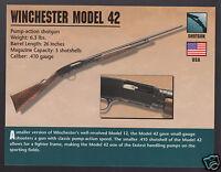 WINCHESTER MODEL 42 SHOTGUN .410 Gauge Gun Atlas Classic Firearms PHOTO CARD