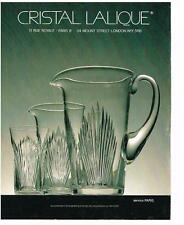 PUBLICITE ADVERTISING   1988   CRISTAL LALIQUE    service PARIS