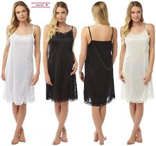 White Black Ivory Ribbon Strap Slip Petticoat Underskirt Dress Plus size 10/26