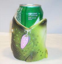 River's Edge Walleye Fish Head Beer Pop Can Cooler Holder Rubber