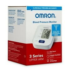 NEW Omron Upper Arm Blood Pressure Monitor, 3 Series  EASY TOUCH, STORES READING