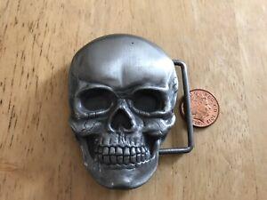 Siskiyou Gifts belt buckle S-8 Skull VGC 1993  Size ~80x50mm