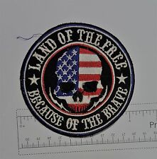 Land of the Free - Club Harley Biker Funny Motorcycle Iron On Patch