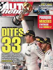 AUTO HEBDO n°2084 NEUF du 12/10/2016 : F1 GP Japon - Fe GP Hong Kong - Maroc
