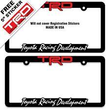 2 TRD-License-Plate-Frame-Toyota-TRD-Tundra-Takoma-FJ-Cruiser-4x4-SR5-Taco-Sport