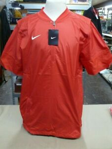NWT Nike Red 746951-657 1/4 Zip Wind Golf Baseball Hot Jacket Men's