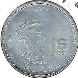 1985 Mexico Circulated One Peso Coin