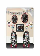 Day Of The Dead Skulls 10 Piece Room Decoration Halloween Party Kit P9761