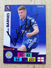 More details for harvey barnes leicester city legend hand-signed panini adrenalyn 2020-21 card