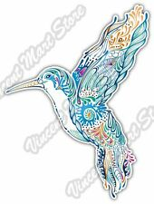 "Hummingbird Tropical Bird Floral Abstract Car Bumper Vinyl Sticker Decal 4""X5"""
