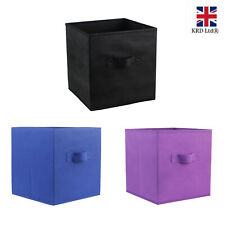 Foldable Storage Boxes Collapsible Organizer  Home Clothes Fabric Cube Basket