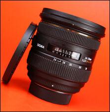 Sigma EX 24-70mm F2.8 DG HSM Zoom Lente Para Nikon Frente Y Parte Trasera Lente Tapas