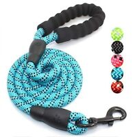 5FT Strong Dog Leash Climbing Rope Night Reflective Threaded Pet Training Handle