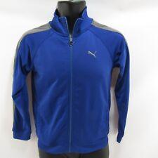 Puma Sweatshirt Youth M Athletic Blue 8-10 Kids Track Jacket Zipper Front