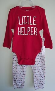 Old Navy Baby Girls 0-3 / 12-18 MONTHS Bodysuit Pants Outfit CHRISTMAS #21118