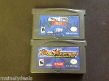 Nintendo Gameboy Advance Cart Only Lot Of 2! Duel Masters/Monster Trucks!!