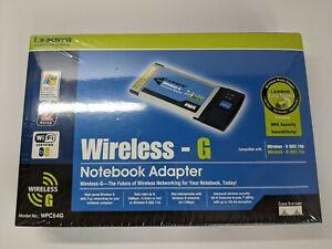 Cisco Linksys Wireless-G Notebook WPC54G Adapter CardBus Adaptor Card Laptop PC