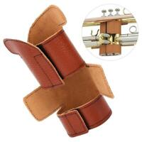 Trumpet Valve Guard Brown Leather Protector Cover Brass Instruments Accessories