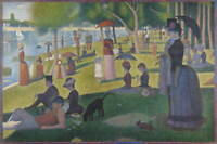 Georges Pierre Seurat A Sunday on La Grande Jatte Poster Giclee Canvas Print
