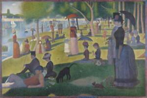 Georges Pierre Seurat A Sunday on La Grande Jatte Poster Giclee Canvas Print