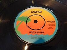 "ASWAD ""THREE BABYLON""  RARE ISLAND UK REGGAE 7"" SINGLE WIP 6338"