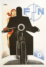FN Motorcycle Poster Fine Art Lithograph Marcello Nizzoli S2