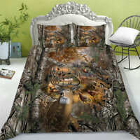 Elk In The Forest Print Bedding Set Quilt Cover with Pillowcases 2/3pcs Bedroom