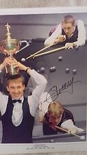 Stephen Hendry Hand Signed Large 16 X 12 Inch Colour Photograph Montage