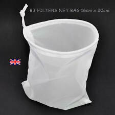 ONE FINE MESH STRAINING NET BAG16cm X 20cm.SMULTI-PURPOSE BEER & WINE  £2.99 F/P