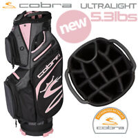 Cobra Ultralight Golf Cart Bag (5.3lbs) 14-WAY Top Black/Rose Gold - NEW! 2020
