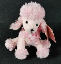 Russ Berrie GIGI Pink Sparkle French Poodle Puppy Dog Plush Stuffed 5.5""