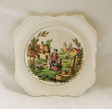 Vintage L & Sons Ltd English Ware COUNTRY SCENE Plate~Hanley, ENGLAND