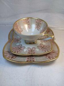 Tea Cup, Saucer & Plate Trio - Alka Bavaria Germany