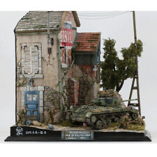 1:35 bâtiment d'assemblage de scène militaire pour accessoire de jouet