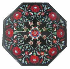 "12"" Marble Corner Table Top Marble Pietra Dura Craft Handmade Patio  Decor"