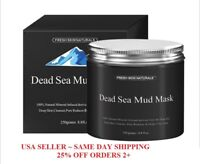 Fresh Skin Naturals Dead Sea Mud Mask Facial Cleanser, Anti-Aging, Tone, 8.8oz