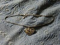 "Brighton Crystal/Silver ♡Eve's Delight♡ Reversible Heart Necklace 16"" to 18"""